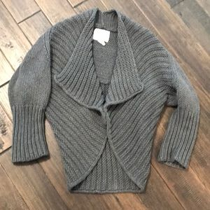 Tabitha sweater cardigan in chunky Gray knit sz M